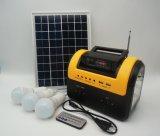 Портативные солнечные света СИД сь с сети электропередач с радиоим FM MP3