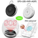 SosボタンPm02を持つ丸型小型GPSの追跡者