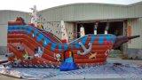 Inflables comerciales barco pirata con la diapositiva a la venta