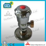 Cromado abierto rápido de latón forjado válvula de bola de ángulo (YD-B5025)