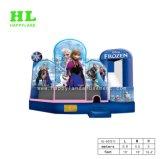 Populärer heißer Verkauf gefrorenes Elsa Thema-aufblasbares Schloss kombiniert für die Unterhaltungs-Kinder, die Sport springen