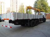 Dongfeng 10トンのトラックによって取付けられるクレーン