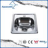 Dispersore di cucina quadrato della ciotola di Aquacubic dell'acciaio inossidabile singolo (ACS5044)
