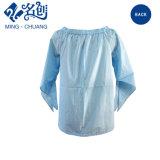 カスタマイゼーションの綿ワイシャツの方法長い袖の偶然にブラウスの女性の着ること