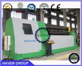 W11H-4X3000 quanlity Arc-Adjust haut en bas des rouleaux de flexion de la plaque de rouler la machine