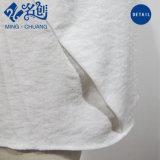 Comercio al por mayor de tejido de lino con cuello en V de manga corta camisa casual blusa holgada