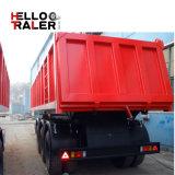 60ton 3 차축 팁 주는 사람 또는 반 쓰레기꾼 실용적인 화물 트럭 트랙터 트레일러