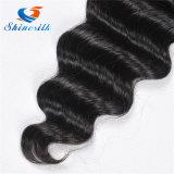 Дешевые человеческие волосы 100% объемной волны Brazalian связывают естественный уток черных волос
