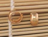 Aro liso Earings del color del oro (15X6 milímetro) para las mujeres