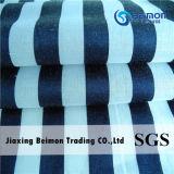 Tissu en fil de coton en soie 13mm en coton blanc et noir en rayures