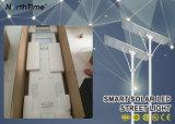 Lampada di via solare del telefono di controllo intelligente di APP con la batteria di litio