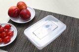 recipiente descartável do alimento 500ml plástico desobstruído redondo em vendas