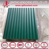Color prepintado de la placa de azotea del hierro acanalado cubierto galvanizado cubriendo la hoja de acero