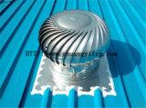 Ветросиловая турбина вентилятора крыши установила на крыше фабрики