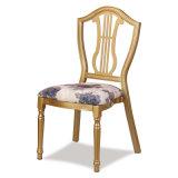 Hôtel empilant la chaise en acier de banquet de dos rond
