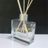 Vendita calda 100ml  Bottiglia di vetro quadrata del diffusore con il bastone Zb768 del rattan