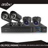 altas cámaras de seguridad Kit&#160 del CCTV de Ahd DVR de la definición del alambre 4CH;