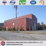 Almacén prefabricado de acero de la estructura del carbón con diseño y la instalación