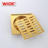 Kaiping-Fabrik-goldenes Fußboden-Abfluss-Badezimmer-Messingfußboden-Blockierabflüsse