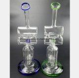 Blaues und grünes Glas-Huka-Recycler