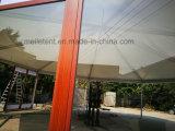 barraca de madeira personalizada do vidro da textura de 10X24m frame de alumínio
