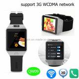 Teléfono elegante impermeable del reloj de 3G WiFi Bluetooth con la cámara Qw09