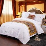昇進の安いホテルの麻布の100%年の綿によって印刷されるホテルの寝具セット