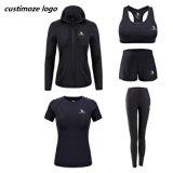 Tuta sportiva stampata personalizzata abiti sportivi di ginnastica di usura di forma fisica delle donne