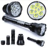 9 LED recargable T6 Xml 11000LM 5 LED de alta potencia Modo Linterna de aluminio