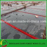 base impermeable 18m m exterior del álamo de la madera contrachapada de la cara de la película de 12m m 14m m