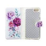 cubierta ULTRAVIOLETA del teléfono celular de la impresión de la flor de la manera para el iPhone