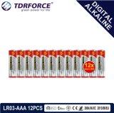 1.5V中国の製造のデジタル一次アルカリ乾電池(LR03-AAA 6PCS)