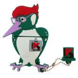 Azionamento dell'istantaneo del USB di figura dell'uccellino, materiale del PVC