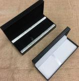 Роскошная черная кожаный коробка подарка пер знака с кнопкой