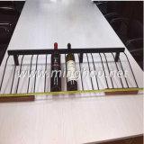 Estante revestido colgante de la pared del alambre del aerosol del estante del vino del metal de 9 botellas