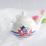 POT del tè del caffè di Enamal della porcellana del POT del caffè reso personale POT di ceramica bianco normale del tè