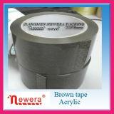 Bande de gomme adhésive acrylique de la couleur BOPP de Tan pour le cachetage de carton