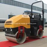 Mecanismo impulsor hidráulico paseo del tambor del doble de 2 toneladas en el rodillo del asfalto