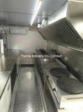 Reboque forte de Van Móvel Alimento do gelado de molde de aço