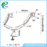 Support réglable de moniteur de moniteur de Jn-Ds324fg de hauteur duelle ajustable de bras