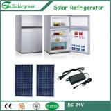 Refrigerador del refrigerador solar de dos puertas mini con el congelador superior