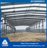 Almacén ligero de la estructura de acero de la alta calidad con la grúa