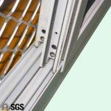 Schiebendes Aluminiumfenster mit Edelstahl-Einbrecher-Netz K01085