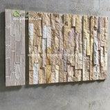 Pietra ed angolo di legno gialli naturali della sporgenza dell'arenaria