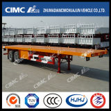 40FT 2axle Flatbed Semi Trailer mit Boggie Suspension