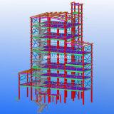 Armazém/oficina/hangar/fábrica industriais Prefab da construção de aço do Quatro-Assoalho