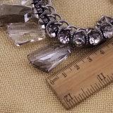 Doppelte Titanlink-Kette mit unregelmäßiger transparenter Facette bezaubert Armband