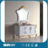 Europa-Art-Antike-Badezimmer-Schrank mit Marmoroberseite Sw-8013