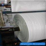 Tissu tissé par pp blanc pour faire des sacs