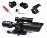 Fusil Laser Vert Vecteur Optique 2.5-10X40 Chasse Portée avec Mini Red Dot Sight Portée Arme